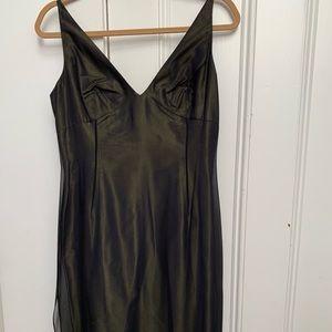 TAHARI slip dress with beaded hem.